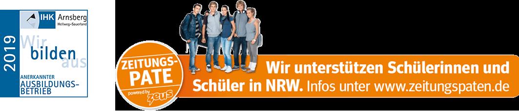 Anerkannter Ausbildungsbetrieb & Zeitungspate